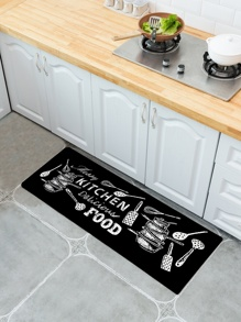 Kitchenware Print Floor Mat