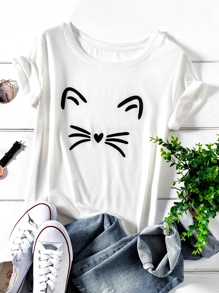 Plus Cartoon Print Tee