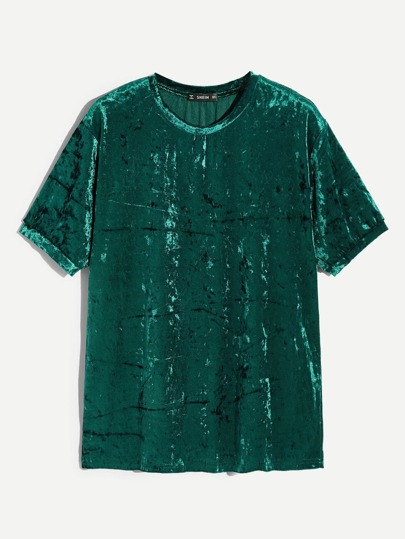 Guys Solid Velvet Top