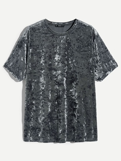 Guys Velvet Short Sleeve Tee