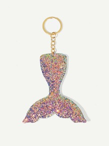 Sequin Mermaid Fishtail Shaped Keychain