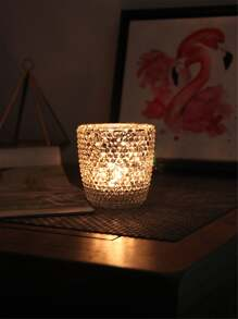 Rhinestone Detail Candle Cover