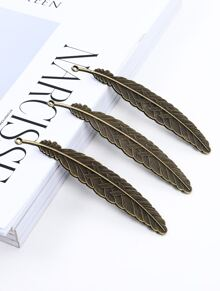 Feather Shaped Bookmark 1pc
