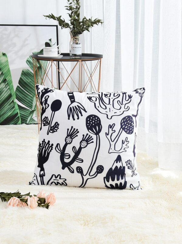 Plant Pattern Cushion Cover