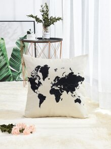 Map Print Cushion Cover