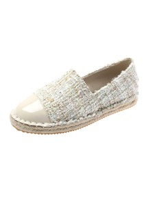 Slip On Tweed Flats