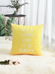 Slogan Print Pillowcase 1PC