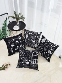 Cartoon Pattern Cushion Cover 1pc