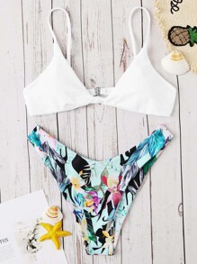 Random Tropical High Cut Mix and Match Bikini
