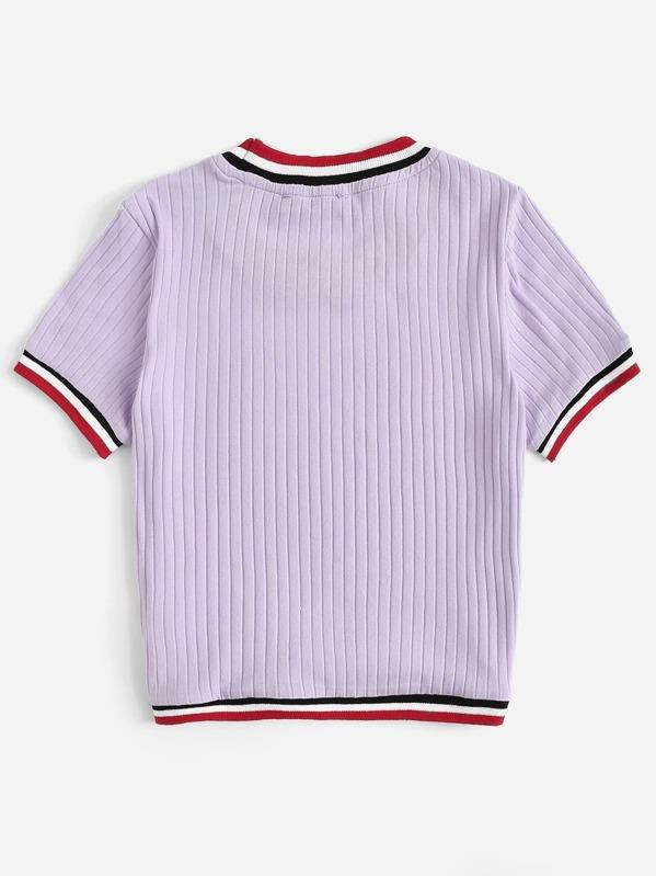 23243c9da3 Cheap Colorful Striped Rib-knit Top for sale Australia | SHEIN