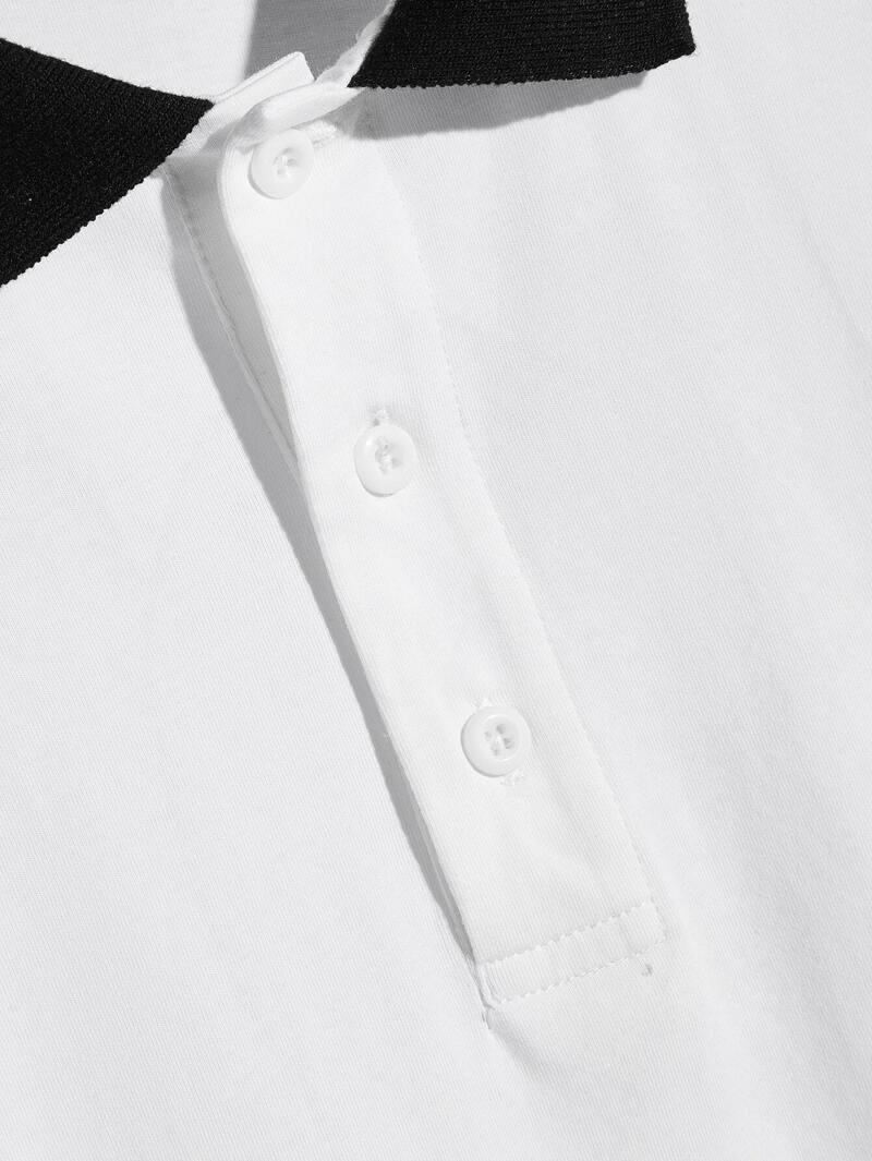 info pour 5ce9f 0b04a Polo à col chemise à rayures avec boutons