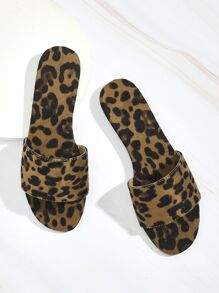Leopard Pattern  Suede Slippers