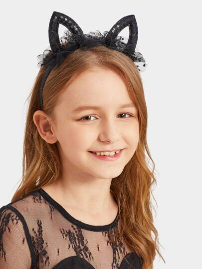 Toddler Girls Cat Ear Decorated Headband