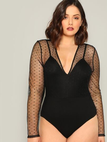 21f6de7ae06 Plus Size Bodysuits, Shop Plus Size Bodysuits Online | SHEIN UK