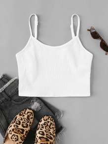 Solid Ribbed Cami Top