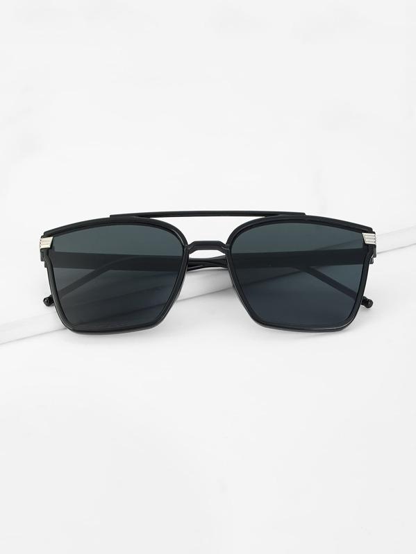 34d13dc2367 Men Top Bar Flat Lens Sunglasses