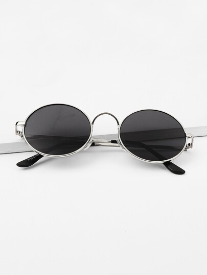 Guys Round Frame Sunglasses