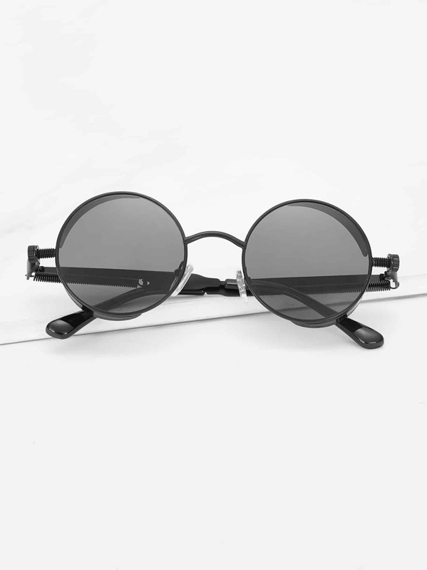80675aa4c Men Coil Spring Detail Round Lens Sunglasses | SHEIN IN