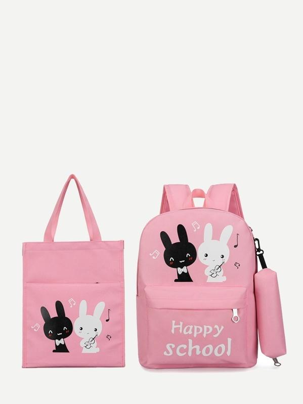 e3b8877a7 حقيبة ظهر أرنب للأطفال مع حقيبة مقلمة ومتسوق | شي إن