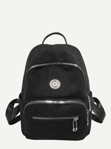 Pocket Front Cordury Backpack