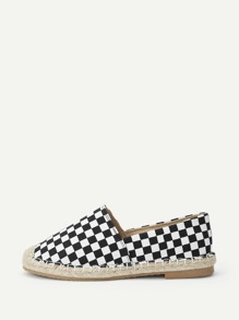 Plaid Pattern Slip-on Flats
