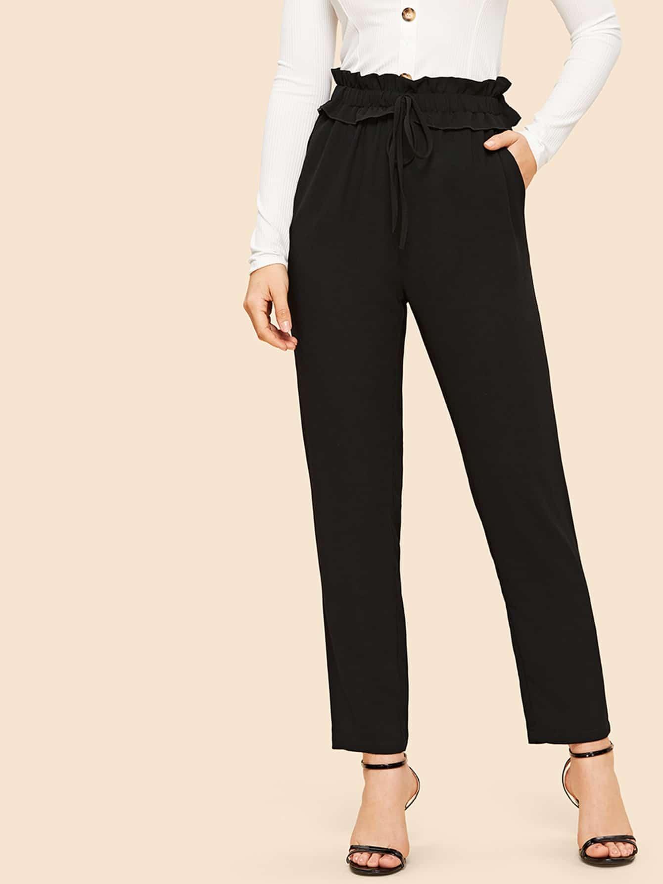 70s брюки с косами карманами и плиссированной талией thumbnail