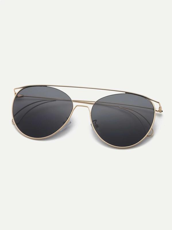 477dbaf0a4 Men Top Bar Metal Frame Sunglasses | SHEIN