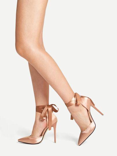 76939677b76e6 Chaussures à talons aiguilles avec nœud à bout pointu
