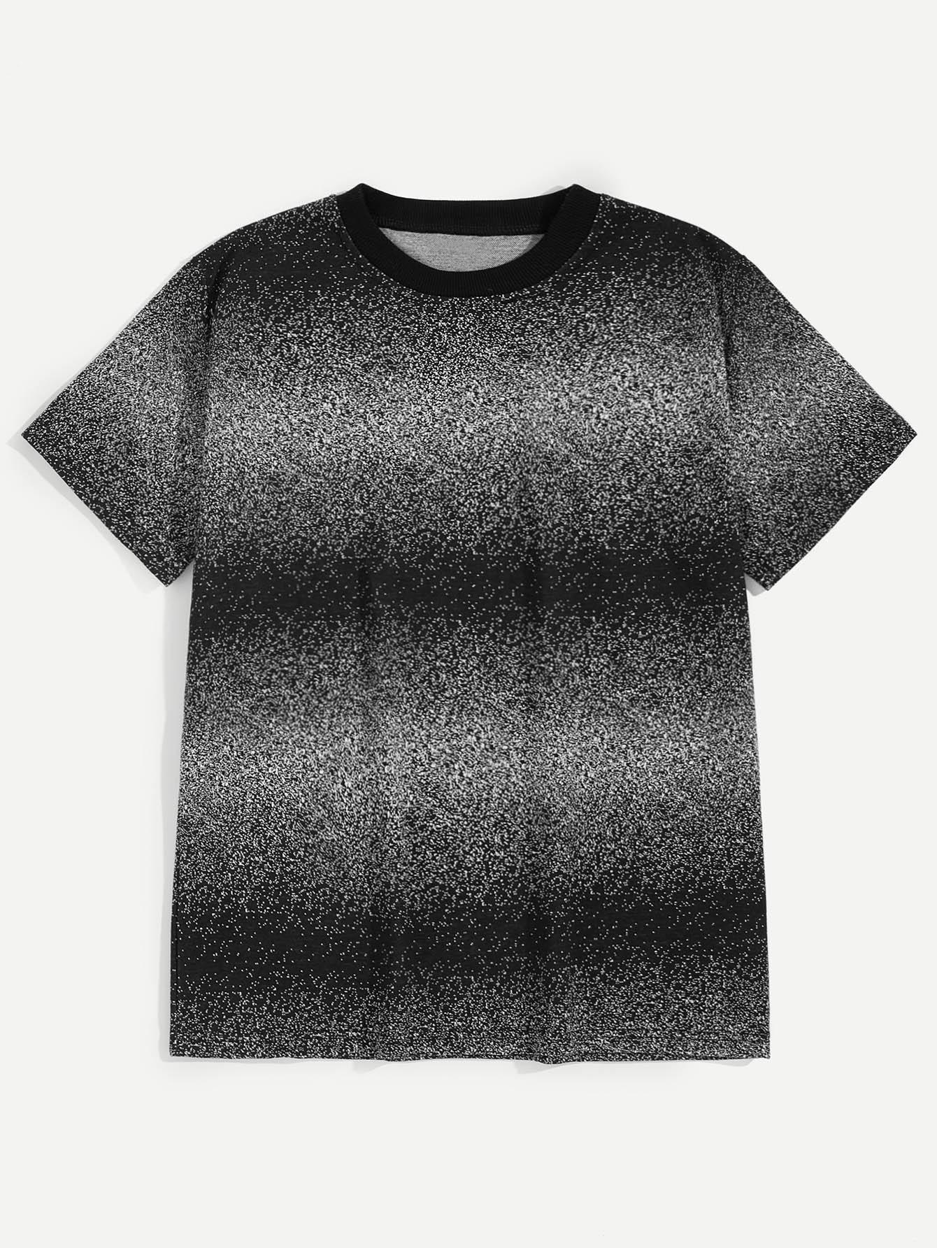 77d8dd217c Men Ombre Space Dye Tee EmmaCloth-Women Fast Fashion Online