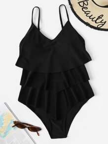 Tiered Layer One Piece Swimwear