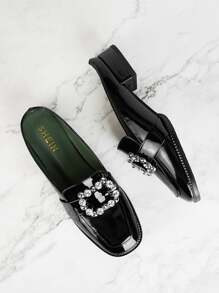 Jewelled Decor Flat Mules
