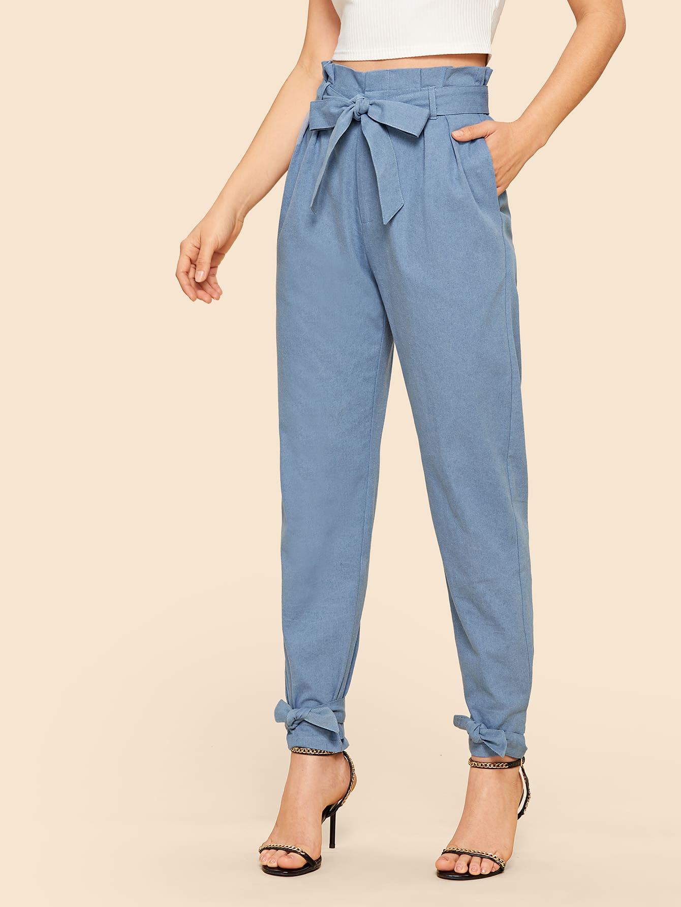 70s брюки с широкой талией и поясом thumbnail