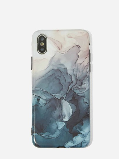 c906d4d7df Ocean Wave Pattern iPhone Case | SHEIN