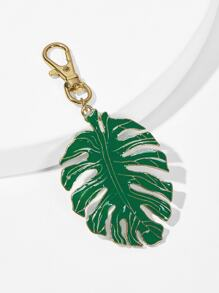 Tropical Palm Leaf Pendant Keychain