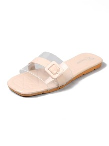 Clear Buckle Strap Sliders