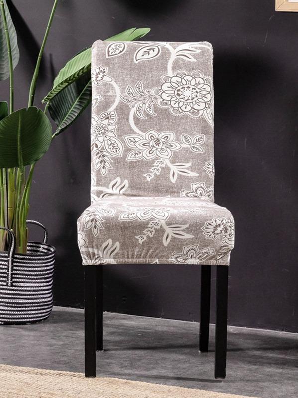 Chaise De Housse Imprimé Fleur Extensible Avec W9EHIY2D
