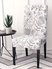 Bird Print Stretchy Chair Cover