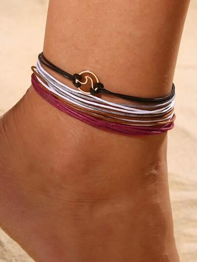 b52ed2d7ca Multi-layered String Anklet 4pcs