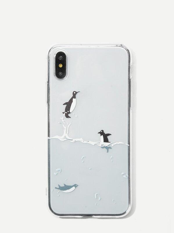detailed look 7e38e 11f44 Penguin Pattern iPhone Case