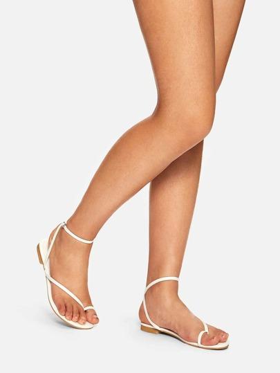 272a4683af6ba Strappy Toe Post Flat Sandals