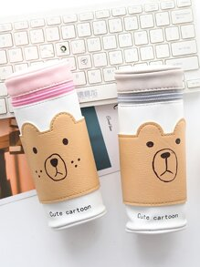 Bear Cylinder Pencil Case 1pc