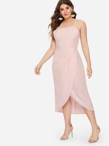 Plus Tulip Hem Cami Dress