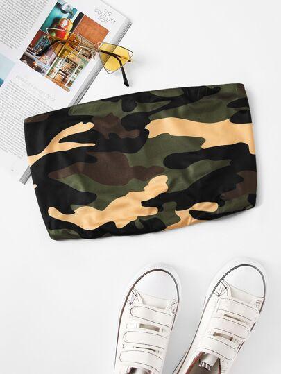 05d6a70c3e Home · Tops · Tank Tops   Camis  Camo Print Crop Tube Top
