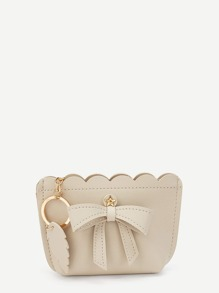 Bow And Leaf Detail Scallop Purse