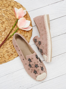 Star & Rhinestone Decor Flats