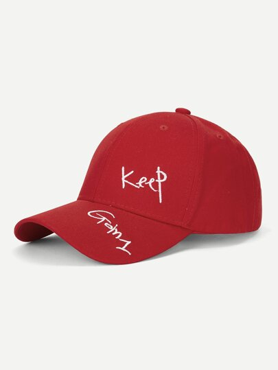 Guys Letter Embroidery Baseball Cap