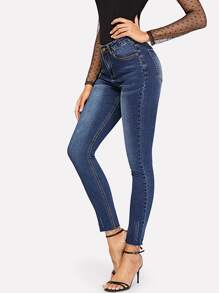 Skinny Bleach Wash Jeans