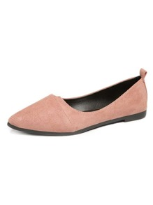 Point Toe Suede Ballet Flats