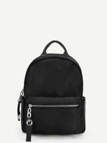 Pocket Front Zipper Backpack