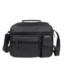 Men Multi Pocket Zip Front Crossbody Bag